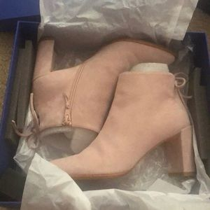 Stuart Weitzman stepeasy ankle boots rose suede